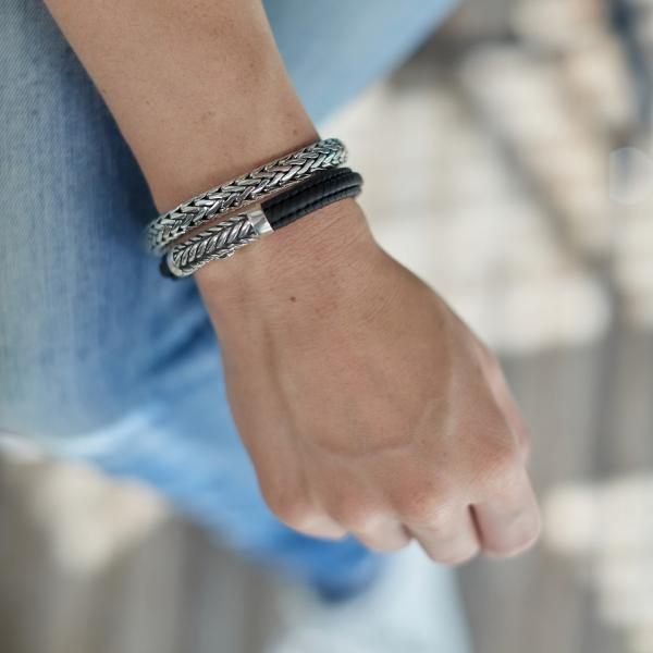 158BLK Bracelet Black Female ZIPP Collection