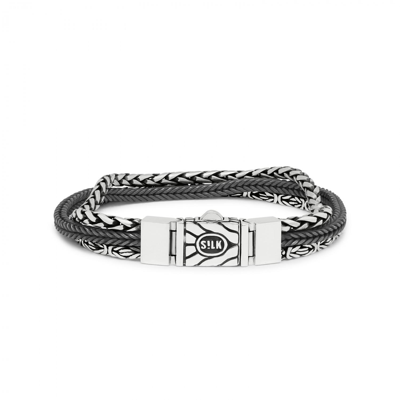 man silver padlock bracelet mens silver chain bracelet raw rough silver chain bracelet man/'s chain bracelet