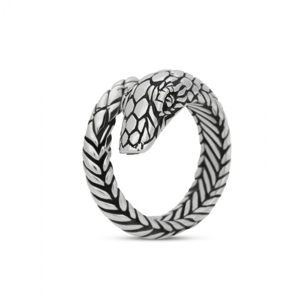 S28 Silver Snake Ring
